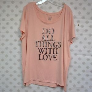 Fun! Lane Bryant Tee I Do All Things WIth Love